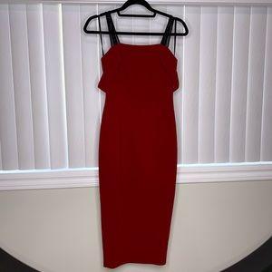 Cinq a sept designer midi red dress